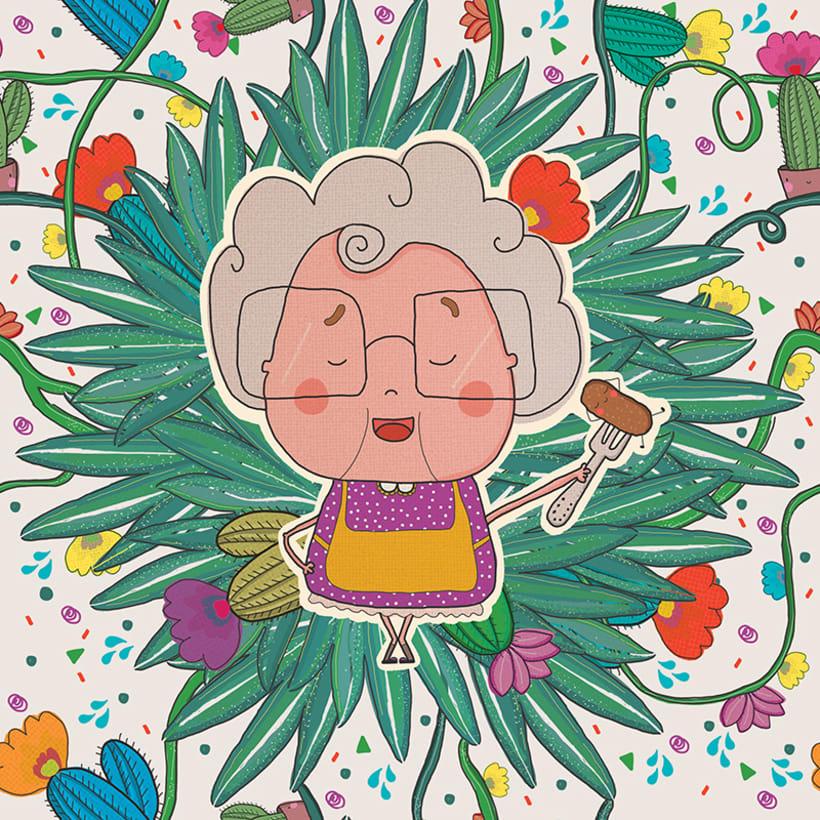 Mantel personalizado : abuelita!!!!  -1