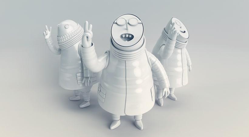 Mi Proyecto del curso: Diseño de personajes en Cinema 4D: del boceto a la impresión 3D 4