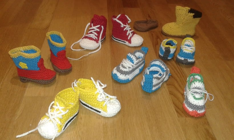 baby boots crochet 0