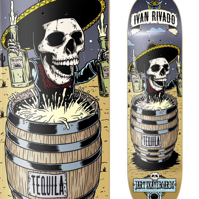 Ilustraciones para Jart Skateboards - Party Series 1