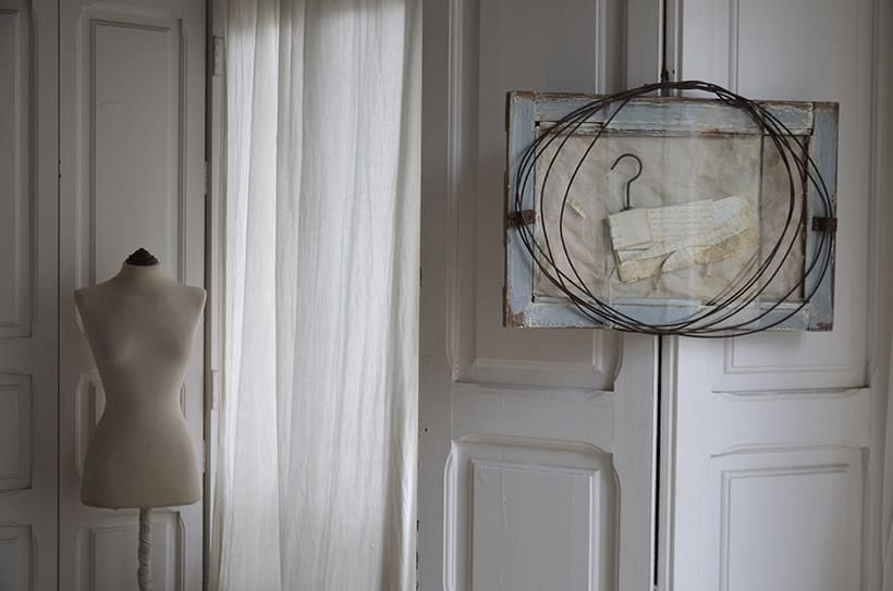 """Reasons, circles and secrets "". Montaje Escultura Collage Arte. Poesía visual. Material antigüo. Técnica Upcycling. 7"