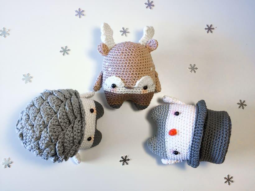 """Nuevo Trío de muñecos crochet amigurumi """"Winter Series"""" 0"""