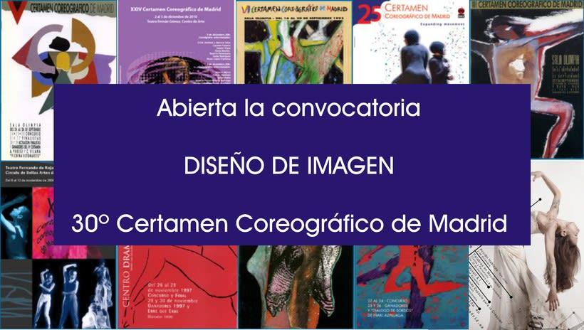 Convocatoria para crear la imagen del 30º Certamen Coreográfico de Madrid 2
