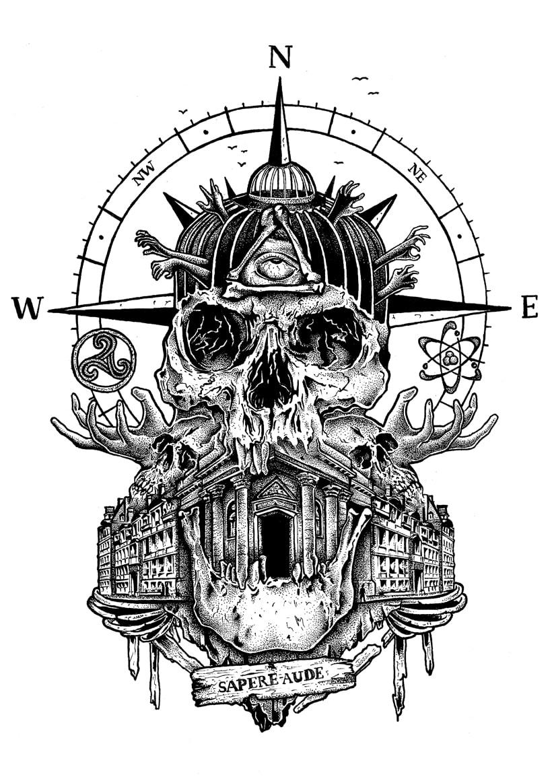 """Fanzine CULO. """"go to skull I"""". Sapere aude. -1"""