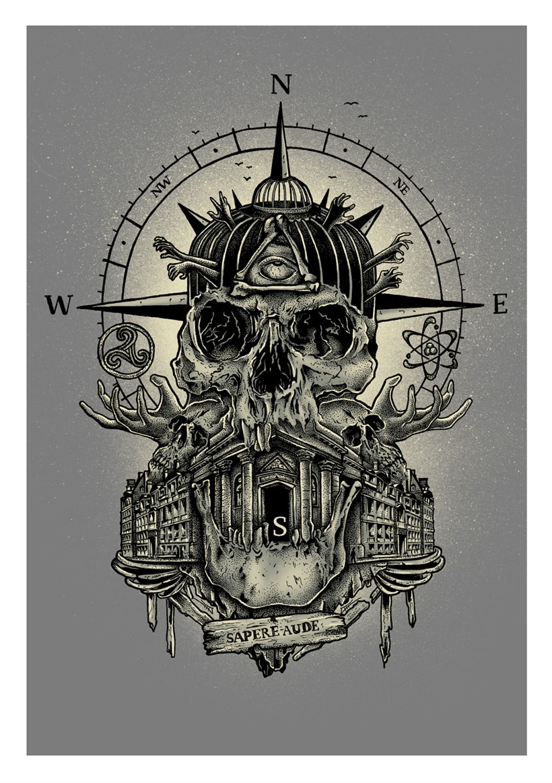 """Fanzine CULO. """"go to skull I"""". Sapere aude. 0"""