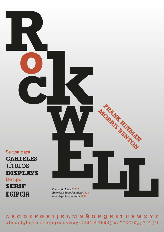 Rockwell - Cartel tipográfico 0