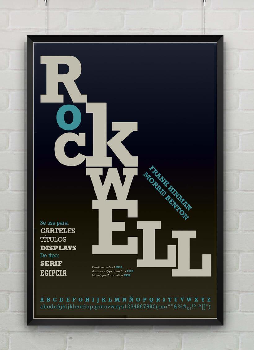 Rockwell - Cartel tipográfico 2