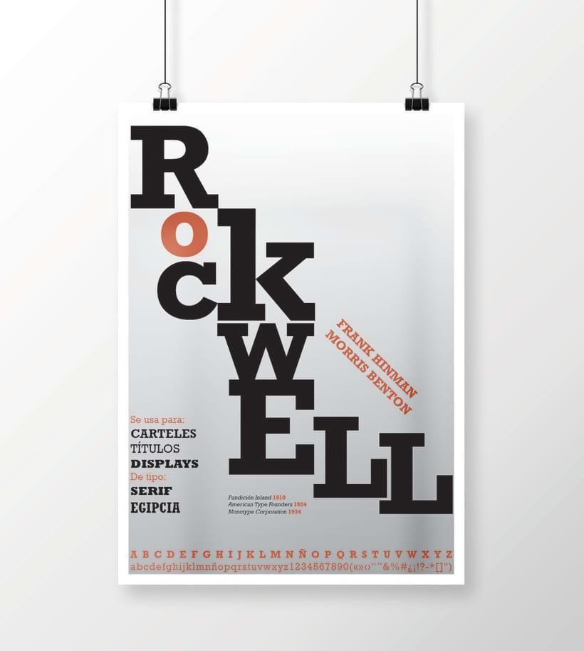 Rockwell - Cartel tipográfico 1