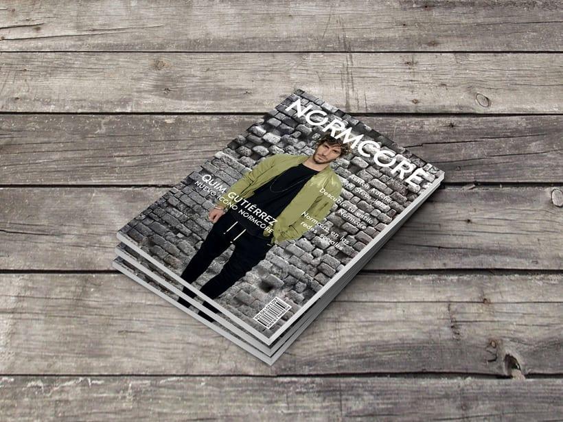 Proyecto de portada de revista NORMCORE. -1