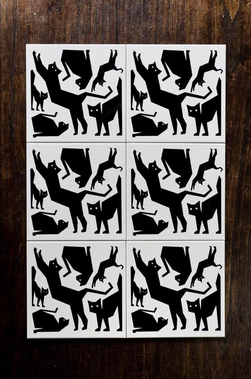 Cerámicos Tres gatos locos 2