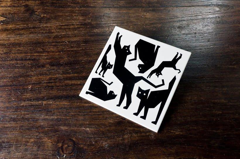 Cerámicos Tres gatos locos 4