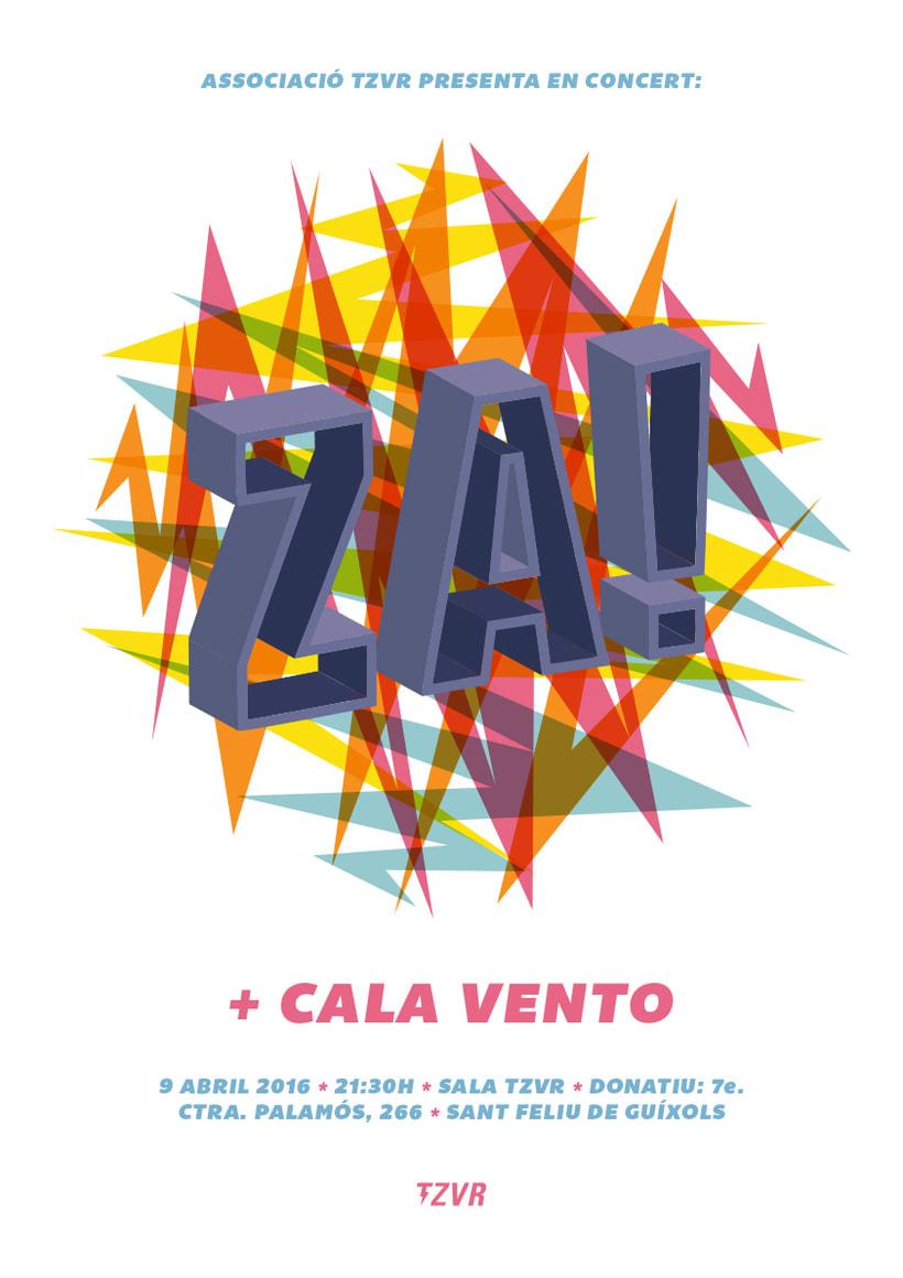 Cartel Za! + Cala Vento -1