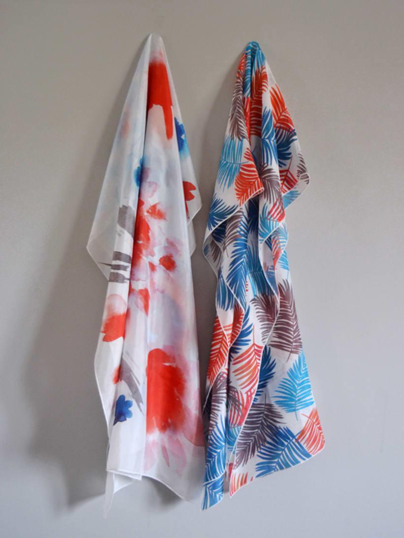 Diseño de patrones para pañuelos de seda 1