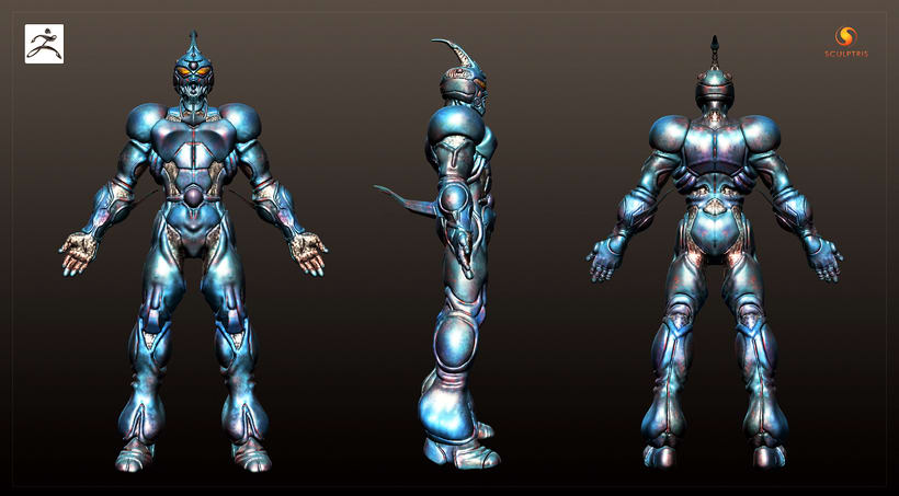 GUYVER: Bio Booster Armor  (3D Model made with SCULPTRIS) 3