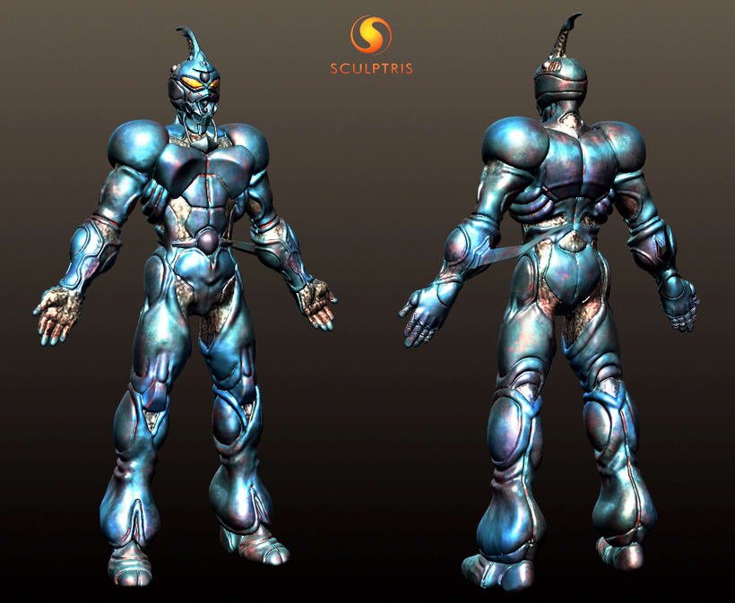 GUYVER: Bio Booster Armor  (3D Model made with SCULPTRIS) 0