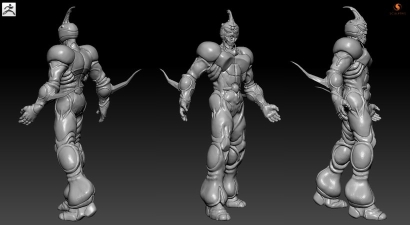 GUYVER: Bio Booster Armor  (3D Model made with SCULPTRIS) 4