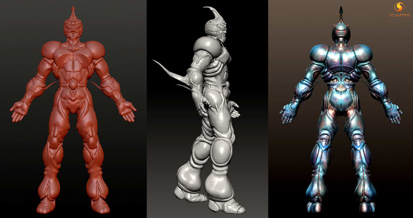 GUYVER: Bio Booster Armor  (3D Model made with SCULPTRIS) 6