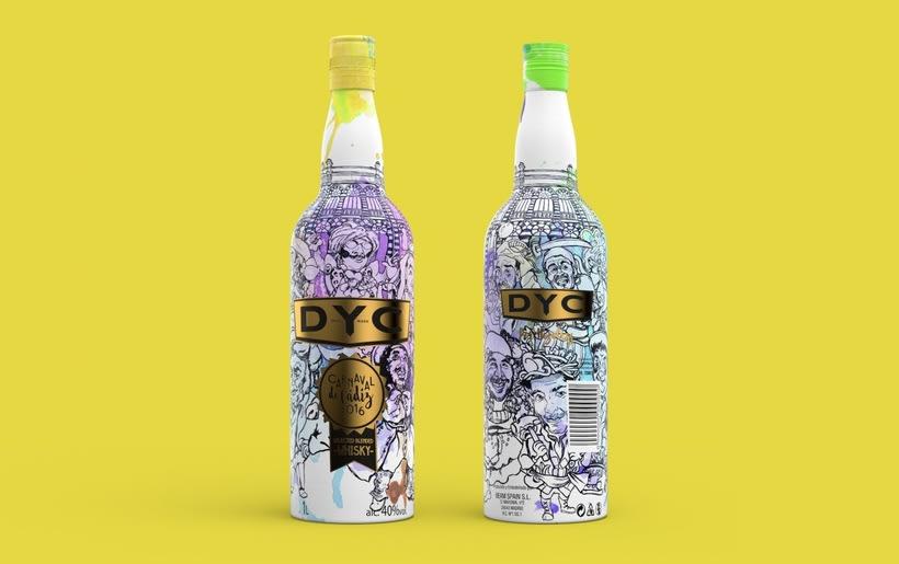 DYC Edición especial botella carnaval de Cádiz 2016 2