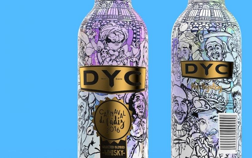 DYC Edición especial botella carnaval de Cádiz 2016 3