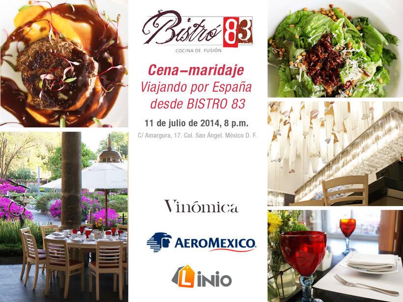 Organización, campaña y Community management de cena-maridaje con Aeroméxico 0