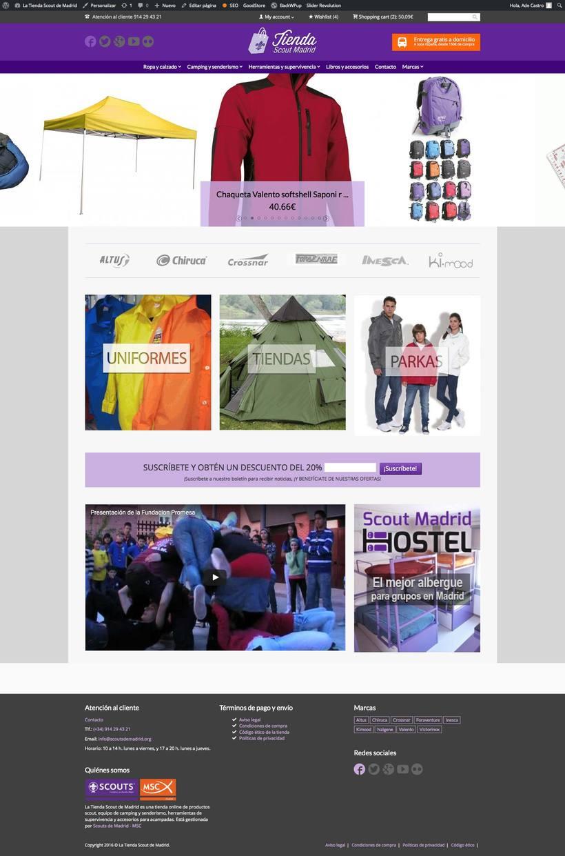 La Tienda Scout de Madrid (e-commerce) 0