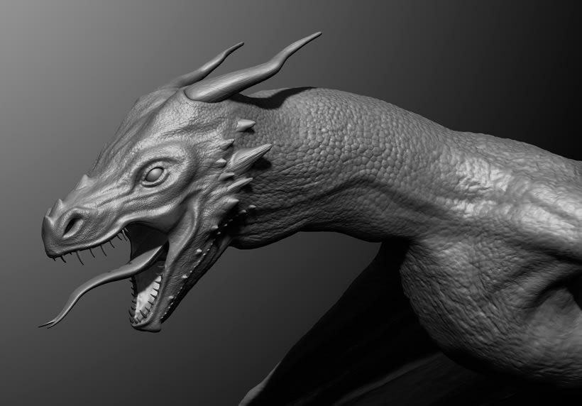 Dragón 3D - Zbrush 1