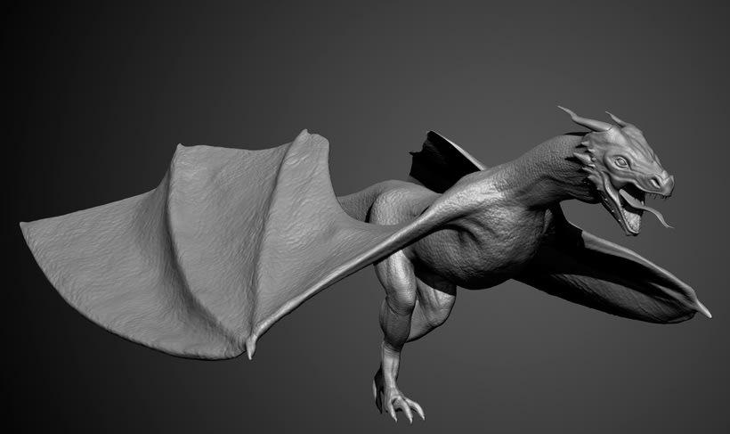Dragón 3D - Zbrush 2