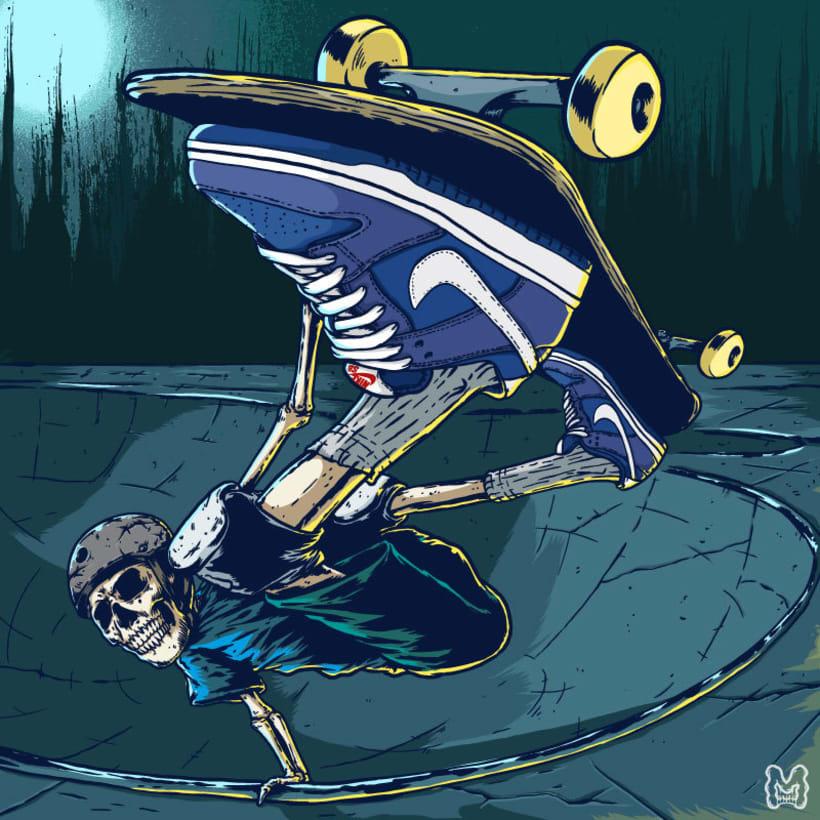 Ripper Skater Invert - Ilustración basada en las zapatillas Nike SB Dunk Low 2