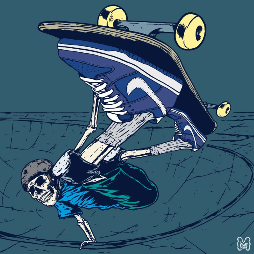 Ripper Skater Invert - Ilustración basada en las zapatillas Nike SB Dunk Low 1