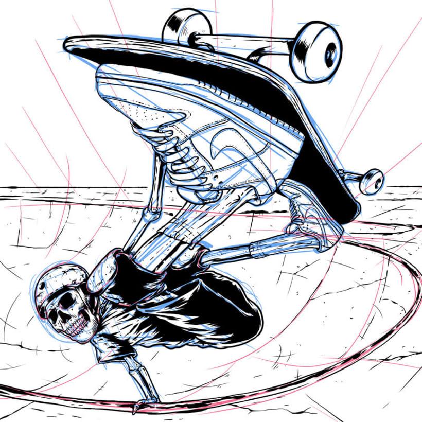 Ripper Skater Invert - Ilustración basada en las zapatillas Nike SB Dunk Low 0