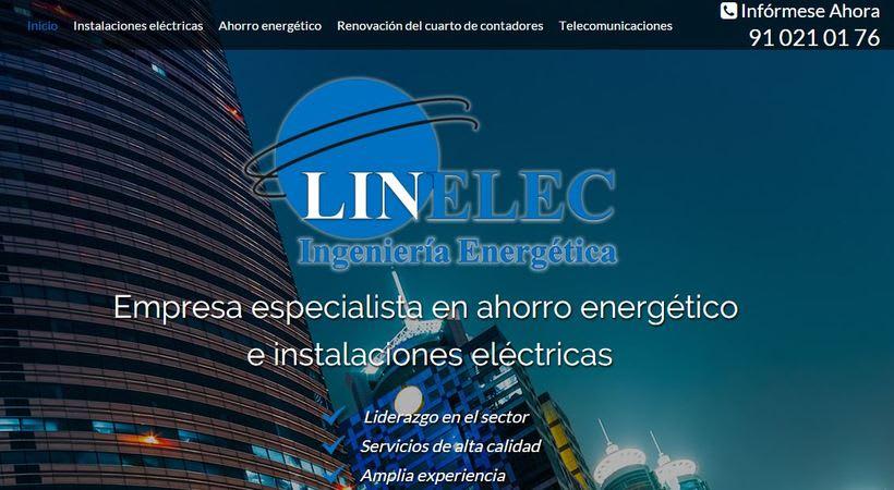 Landing page  LINELEC: Empresa especialista en ahorro energético  e instalaciones eléctricas 0