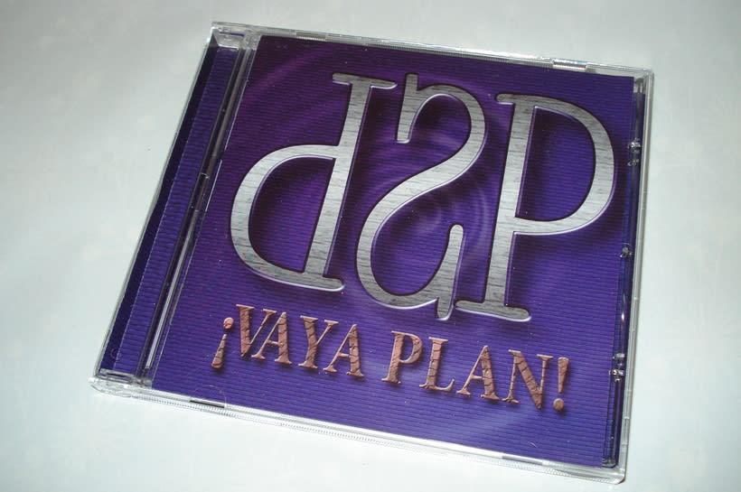 Diseño y maquetación del CD ¡Vaya Plan! del grupo D'Spaldas 0