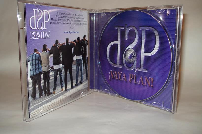 Diseño y maquetación del CD ¡Vaya Plan! del grupo D'Spaldas 1