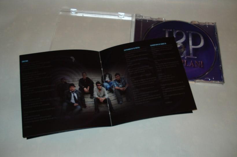 Diseño y maquetación del CD ¡Vaya Plan! del grupo D'Spaldas 2