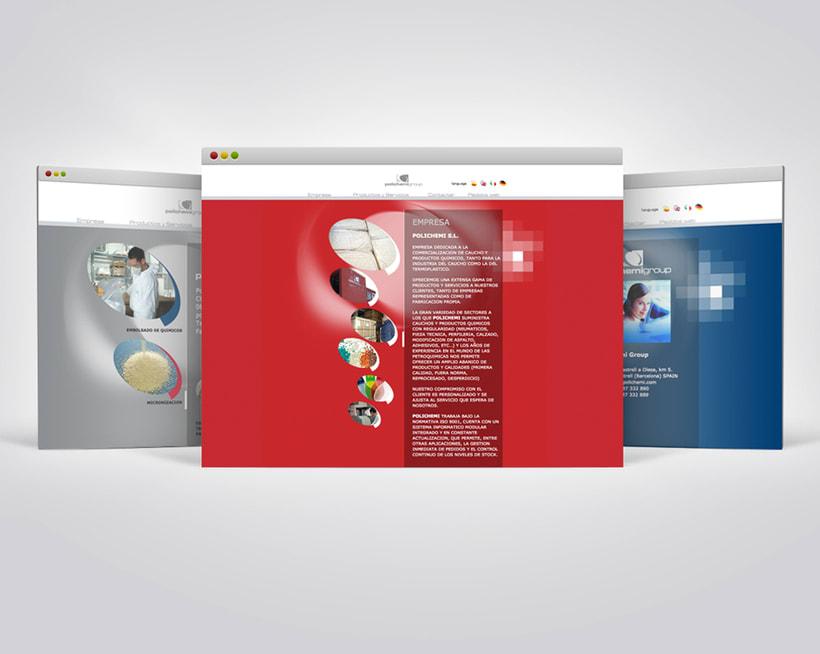 Diseño web para PolichemiGroup. -1
