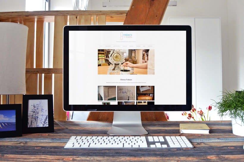 Diseño Web Restaura y Diseña, Taller de Restauración de Muebles y Arte 1