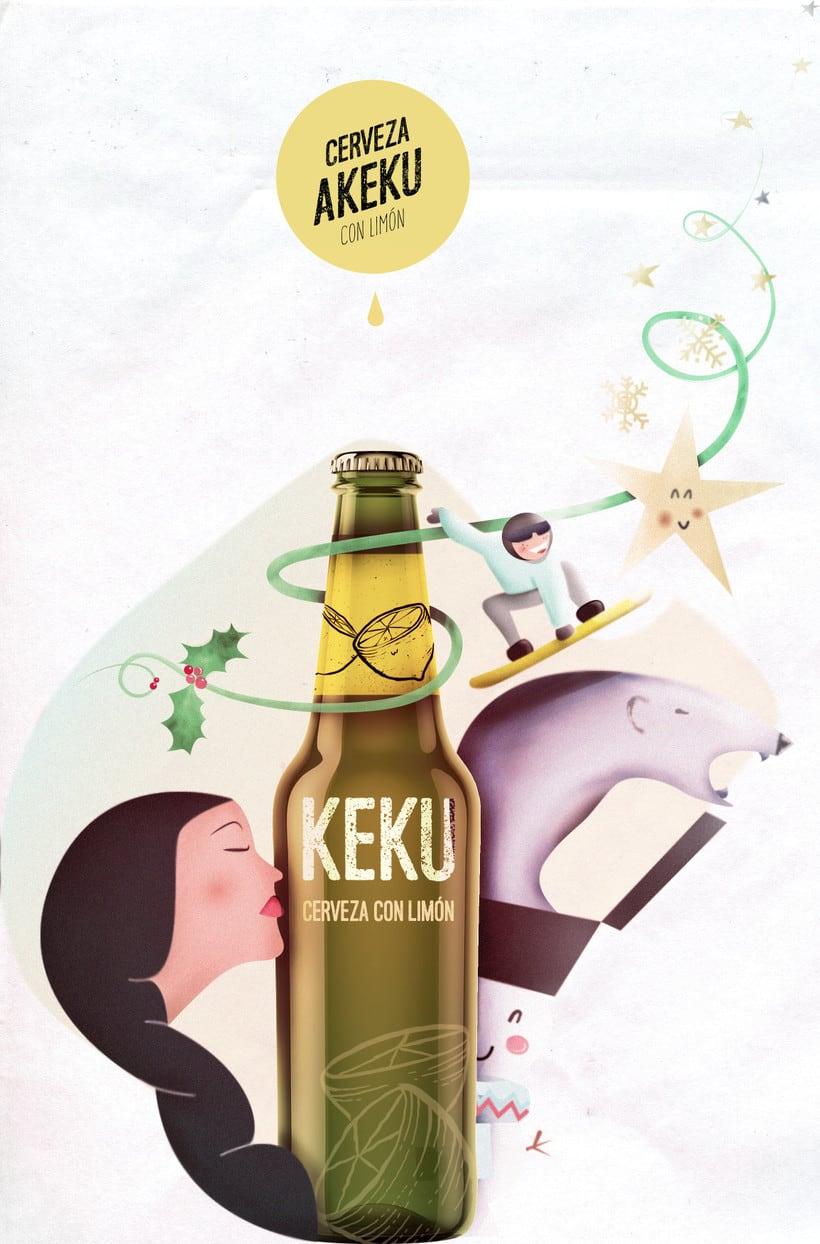 cerveza AKEKU versión navideña -1