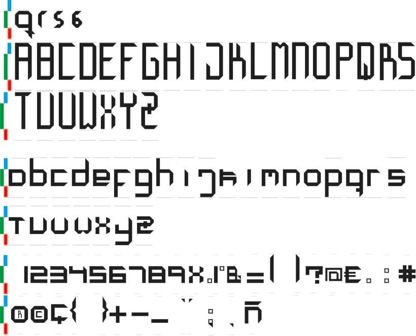 creación tipografía octagonal -1