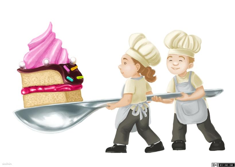 Minichefs con pastel -1