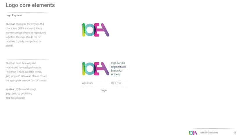 Branding IOEA (guidelines, website, email mk, stationery and editorial design) 2