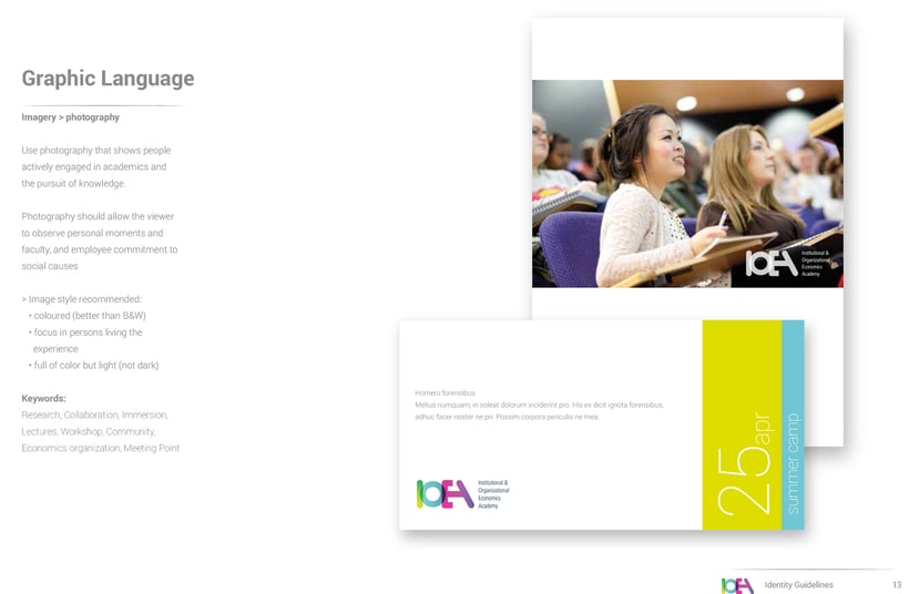 Branding IOEA (guidelines, website, email mk, stationery and editorial design) 4
