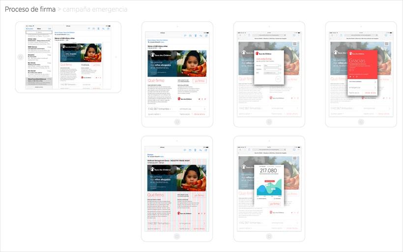 Save the children, app & website UI 1