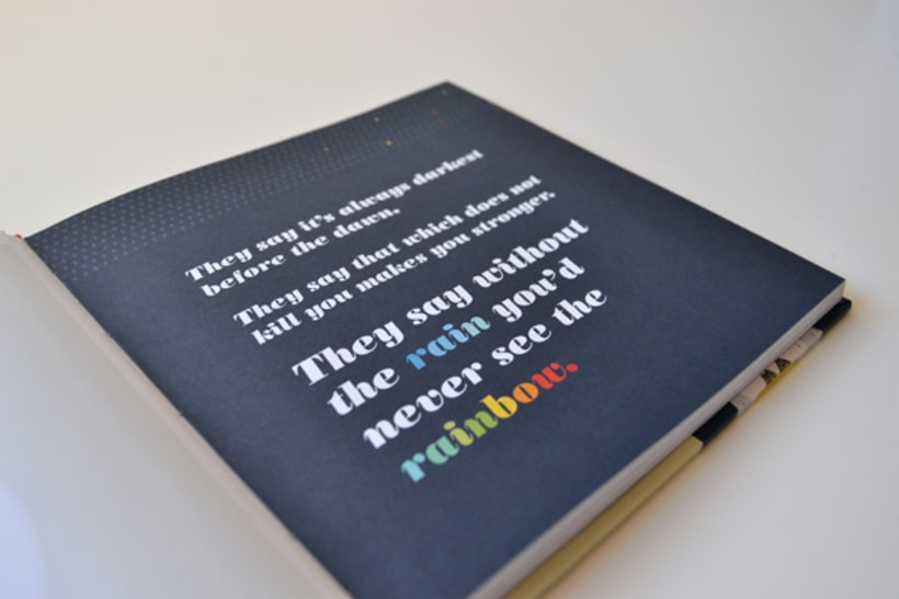 Publicación de estampados en el libro From rain to rainbows 2
