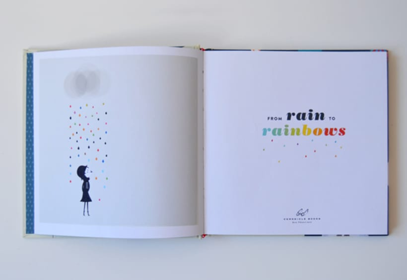 Publicación de estampados en el libro From rain to rainbows 1