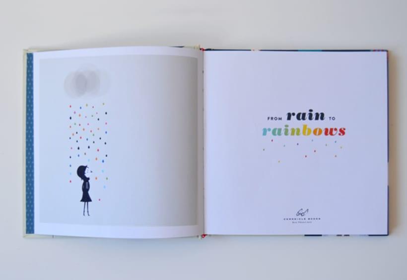 Publicación de estampados en el libro From rain to rainbows 1
