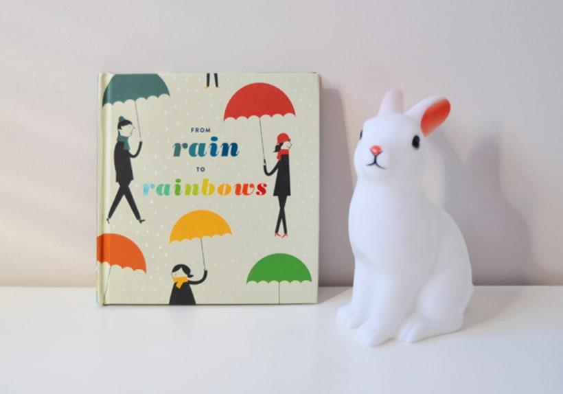 Publicación de estampados en el libro From rain to rainbows 0