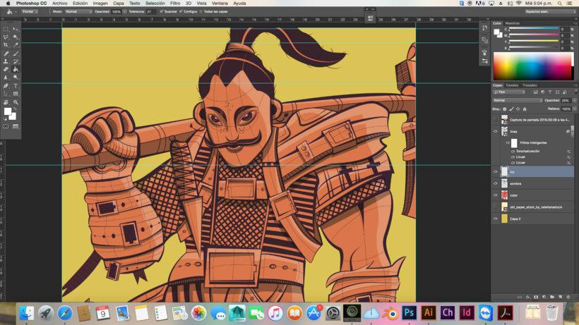 Ilustración vectores samurai 0