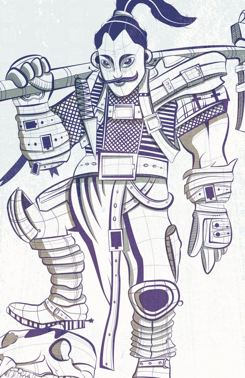 Ilustración vectores samurai 1