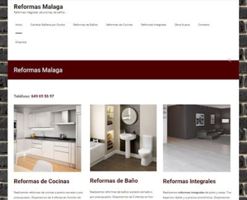 Creacion y posicionamiento de web de Reformas en Málaga 0