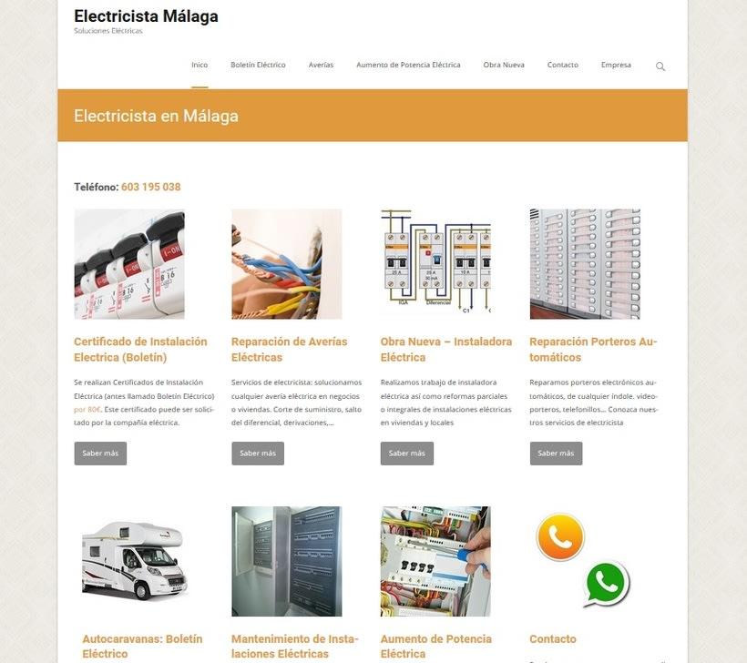 Desarrollo y creación de web de electricista 0